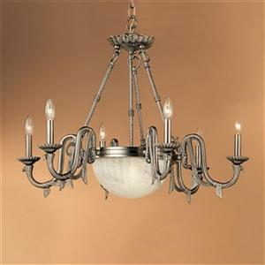 Classic Lighting St. Moritz 8-Light Pewter Chandelier