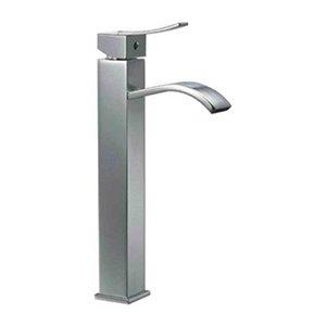 ALFI Brand Polished Chrome Tall Square Body Single Lever Bathroom Faucet