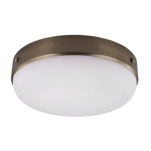 Feiss Cadence Dark Antique Brass 3-Light Flush Mount Ceiling Light