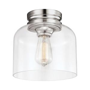 Feiss Hounslow Polished Nickel 1-Light Flush Mount Ceiling Light