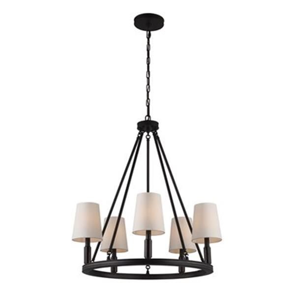Feiss Lismore 5-Light Oil Rubbed Bronze Chandelier