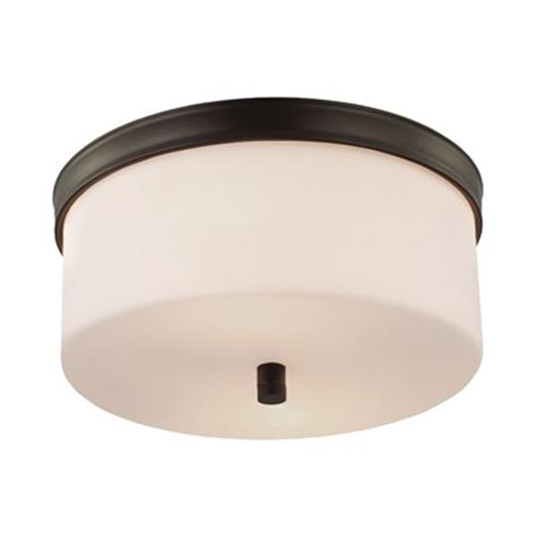 Feiss Lismore Oil Rubbed Bronze 2-Light Flush Mount Ceiling Light