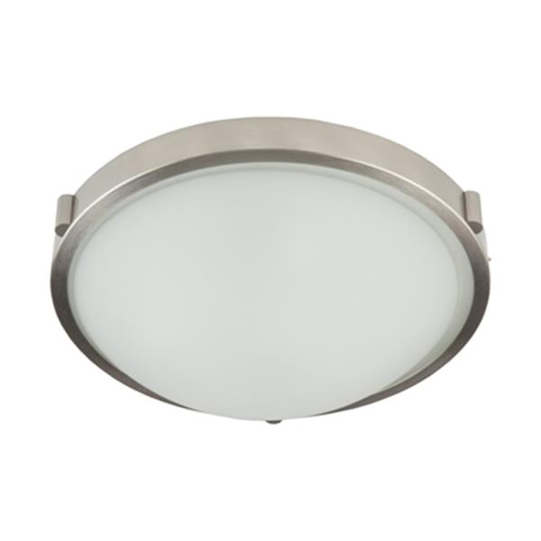 Artcraft Lighting Boise Brushed Nickel 2-Light 13-in Flush Mount Ceiling Light