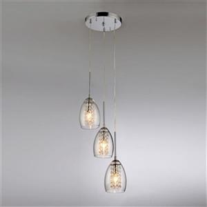 Warehouse of Tiffany Chrome Wine Cup Adjustable Cable Pendant Light