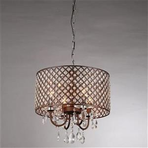 Warehouse of Tiffany Alexia Antique Bronze 4-Light Chandelier