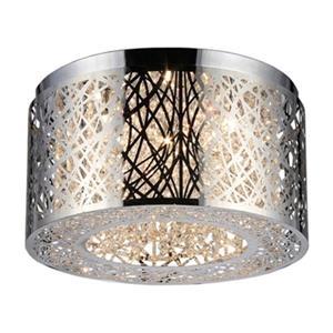 Warehouse of Tiffany Ruben's Chrome 3-Light Flush Mount Ceiling Light