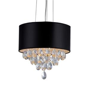 Warehouse of Tiffany Sophie Chrome Crystal Large Pendant Light