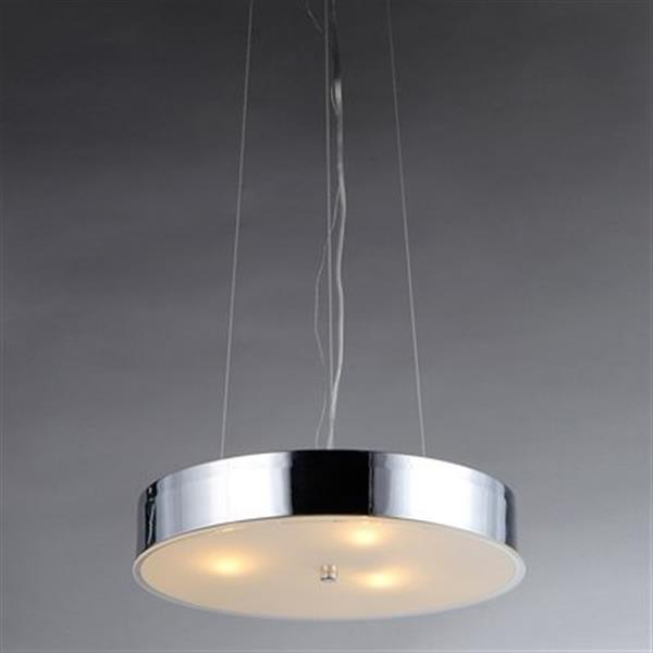 Warehouse of Tiffany Modern Chrome Large Pendant Light