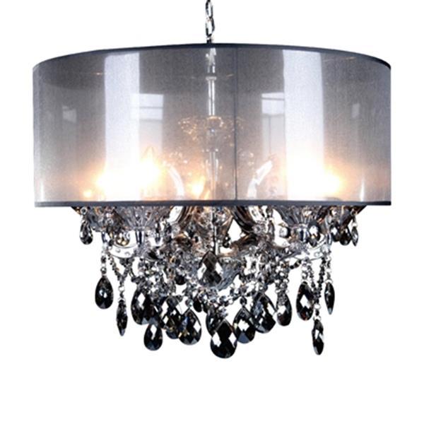 Design Living 4307 Series Chrome 5-Light Crystal Chandelier