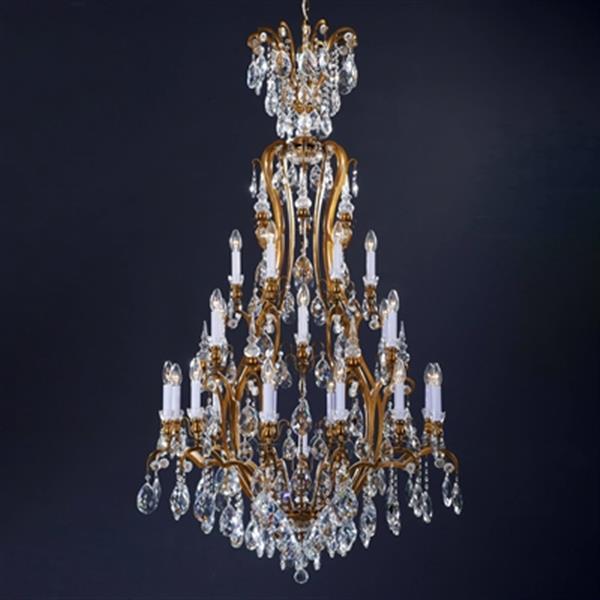 Design Living BET66 Antique Brass 25 Light Crystal Chandelier