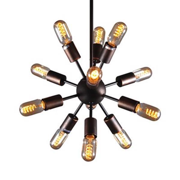 Design Living GL Series Rustic Bronze 12 Light Multi Arm Pendant Light
