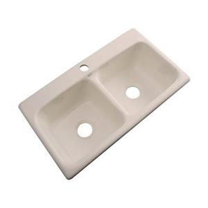 Dekor Englewood 19-in x 33-in Candlelyght Forest Double Bowl Kitchen Sink