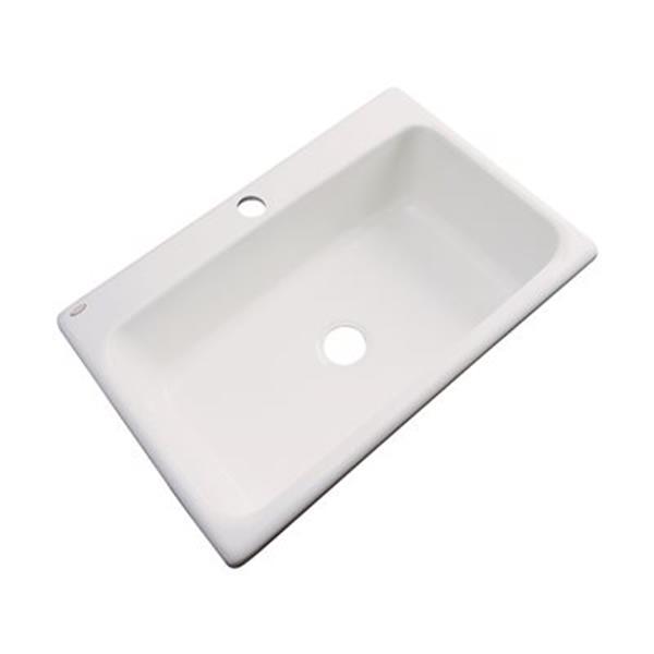 Dekor Brookwood 33-in x 22-in Natural Single Bowl Kitchen Sink