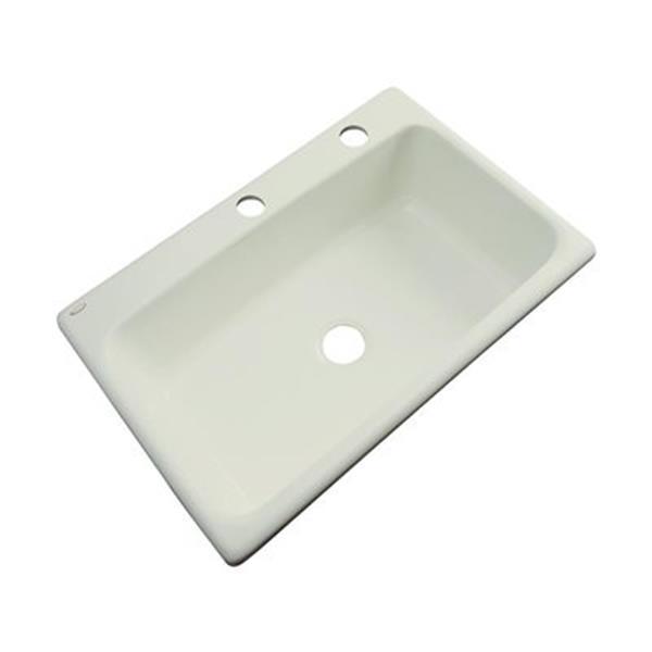 Dekor Brookwood 33-in x 22-in Jersey Cream Single Bowl Kitchen Sink