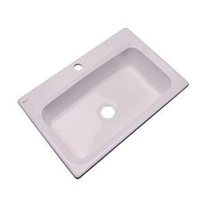 Dekor Ridgebrook 33-in x 22-in Innocent Blush Single Bowl Kitchen Sink