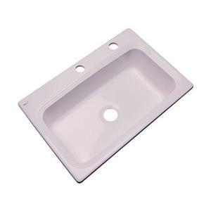 Dekor Ridgebrook 33-in x 22-in Innocent Blush Single Bowl Kitchen Sink