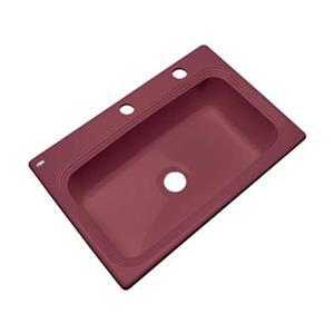 Dekor Ridgebrook 33-in x 22-in Raspberry Puree Single Bowl Kitchen Sink