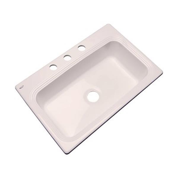 Dekor Ridgebrook 33-in x 22-in Biscuit Single Bowl Kitchen Sink