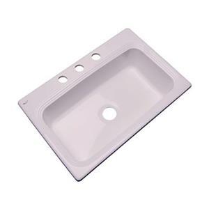 Dekor Ridgebrook 33-in x22-in Innocent Blush Single Bowl Kitchen Sink
