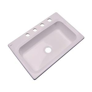 Dekor Ridgebrook 33-in x 22-in Innocent Blush Kitchen Sink