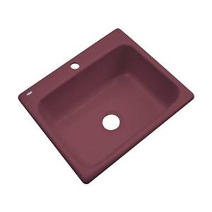 Dekor Princeton 25-in x 22-in Raspberry Puree Kitchen Sink