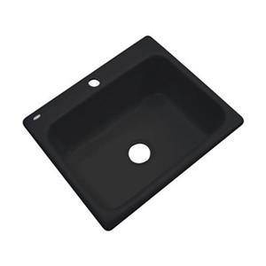 Dekor Princeton 25-in x 22-in Black Kitchen Sink
