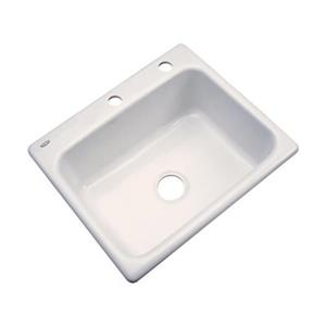 Dekor Princeton 25-in x 22-in Almond Kitchen Sink