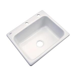 Dekor Princeton 25-in x 22-in Biscuit Kitchen Sink