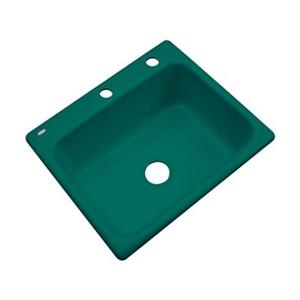 Dekor Princeton 25-in x 22-in Verde Kitchen Sink