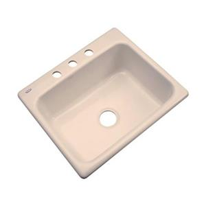 Dekor Princeton 25-in x 22-in Peach Bisque Kitchen Sink