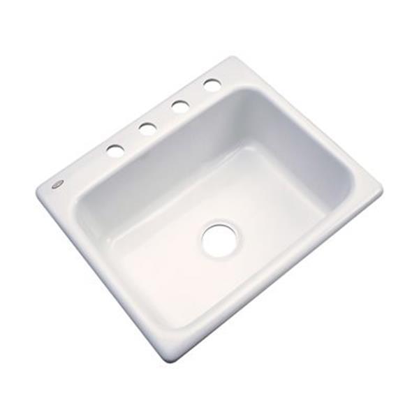 Dekor Princeton 25-in x 22-in Biscuit Kitchen Sink