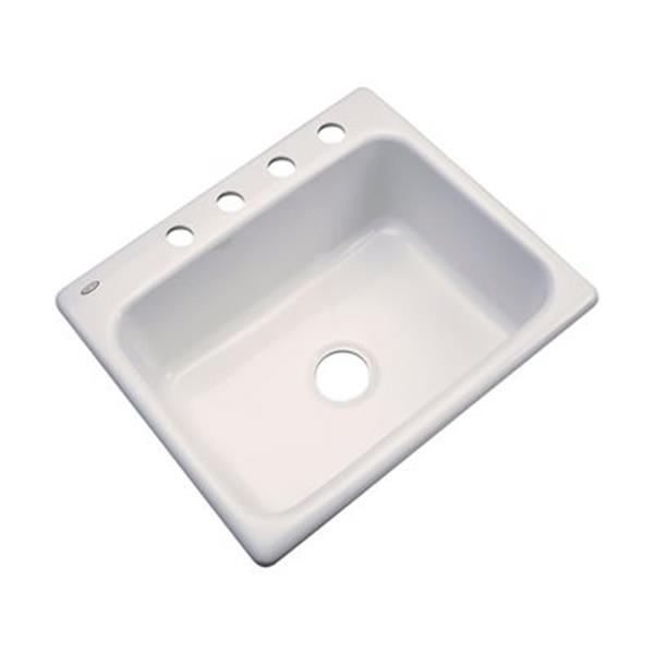 Dekor Princeton 25-in x 22-in Natural Kitchen Sink