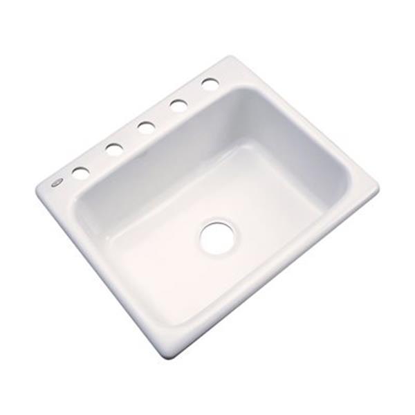 Dekor Princeton 25-in x 22-in Bone Kitchen Sink