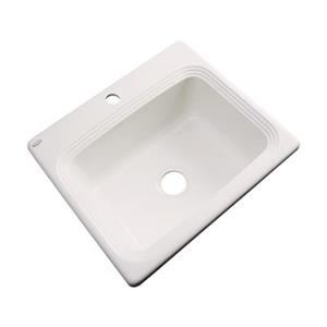 Dekor Chaumont 25-in x 22-in Almond Single Bowl Drop-in Kitchen Sink