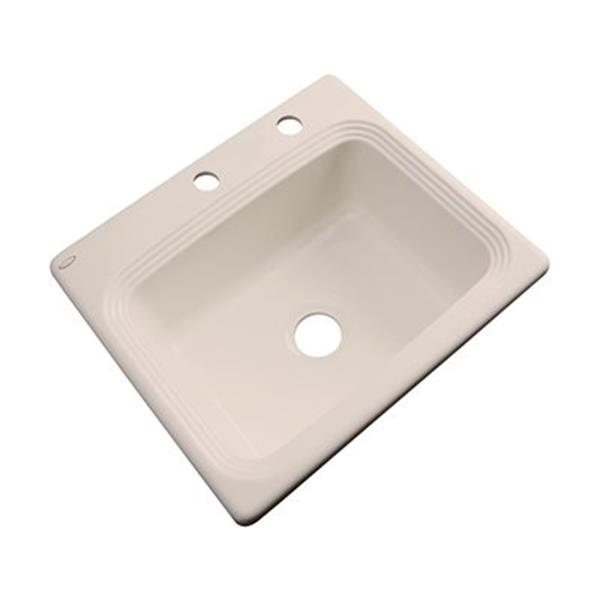 Dekor Chaumont 25-in x 22-in Candlelyght Single Bowl Drop-in Kitchen Sink