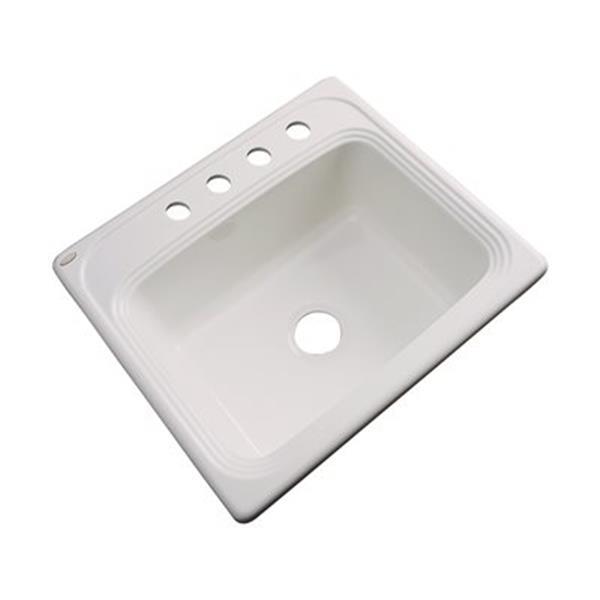 Dekor Waldorf 25-in x 22-in Natural Single Bowl Kitchen Sink