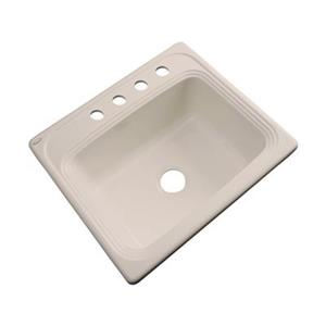 Dekor Waldorf 25-in x 22-in Candlelyght Single Bowl Kitchen Sink