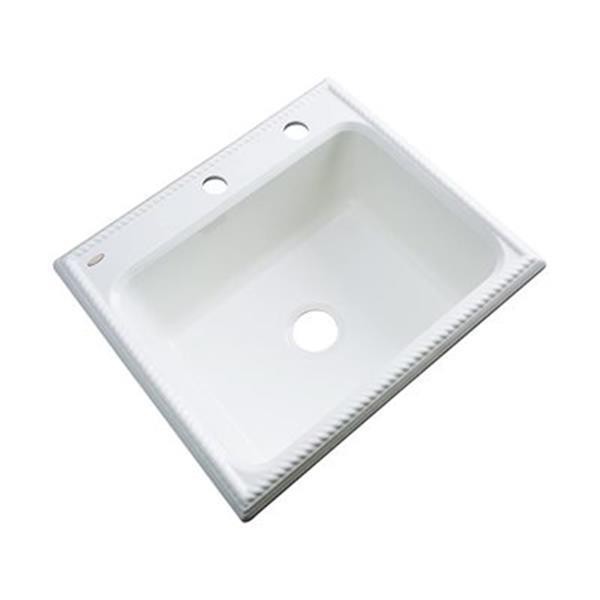 Dekor Litchfield 25-in x 22-in White Single Bowl Kitchen Sink