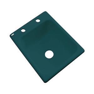 Dekor Danforth 17-in x 22-in Teal Prep Sink