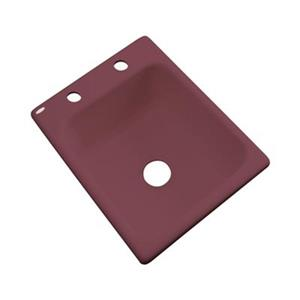 Dekor Danforth 17-in x 22-in Raspberry Puree Prep Sink