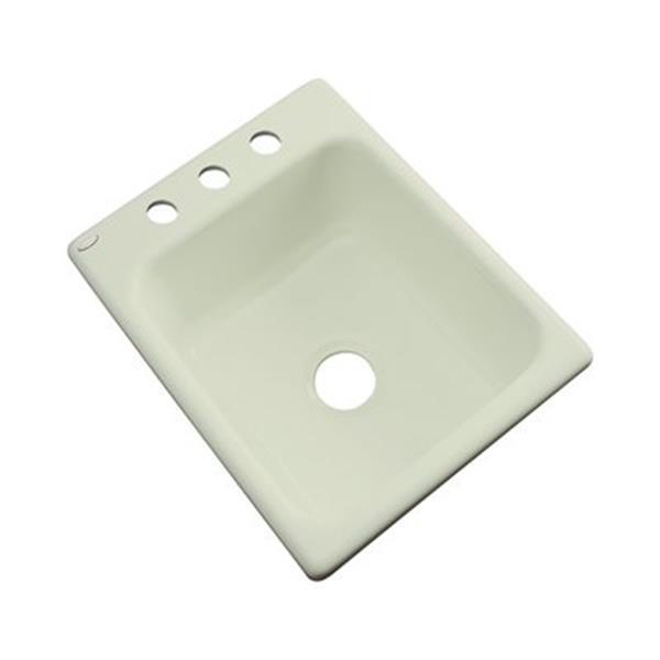 Dekor Danforth 17-in x 22-in Jersey Cream Prep Sink