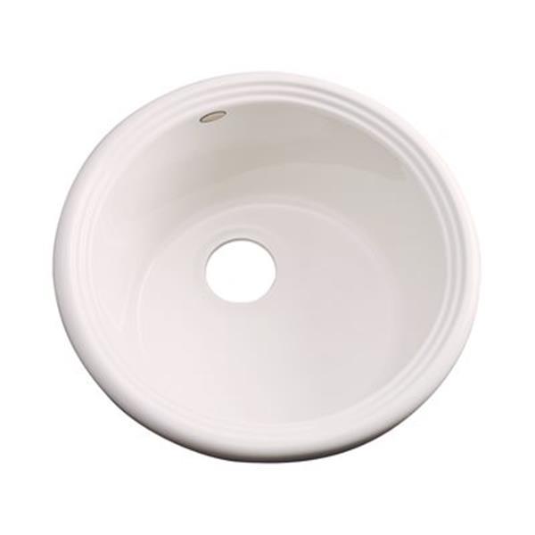 Dekor 240 Master Collection Arvada 18.25-in x 18.25-in Bone Prep Sink