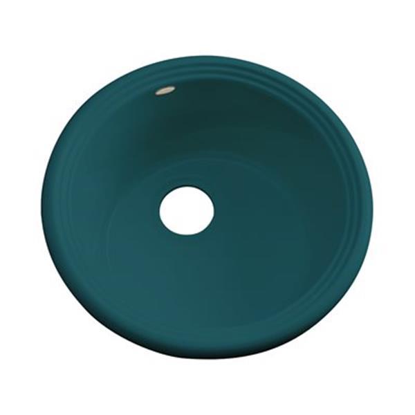 Dekor 240 Master Collection Arvada 18.25-in x 18.25-in Teal Prep Sink