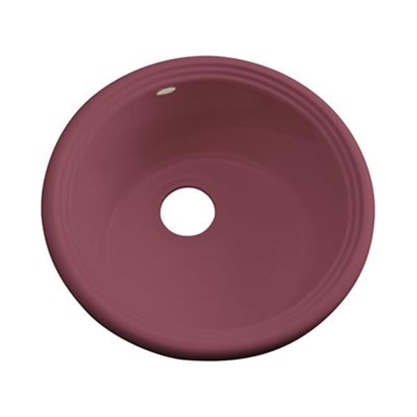Dekor 240 Master Collection Arvada 18.25-in x 18.25-in Raspberry Puree Prep Sink