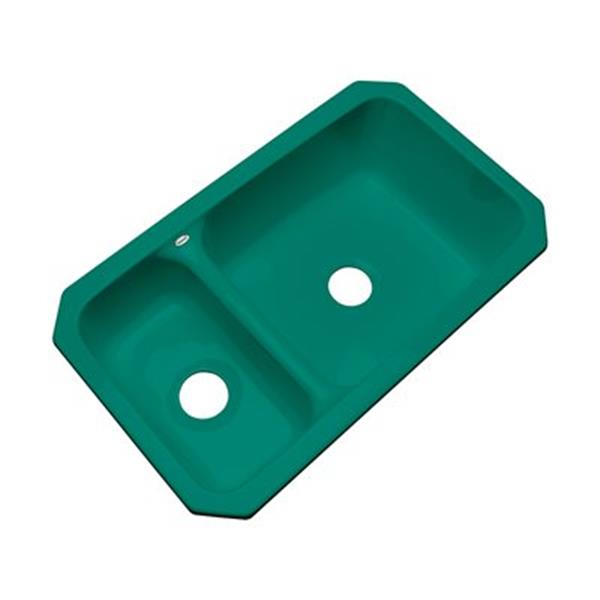 Dekor Windsor 33-in x 19-in Verde Undermount Double Bowl Kitchen Sink