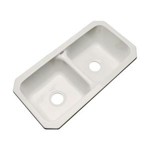 Dekor Englewood 33-in x 16-in Natural Undermount Double Bowl Kitchen Sink