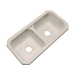 Dekor Englewood 33-in x 16-in Shell Undermount Double Bowl Kitchen Sink