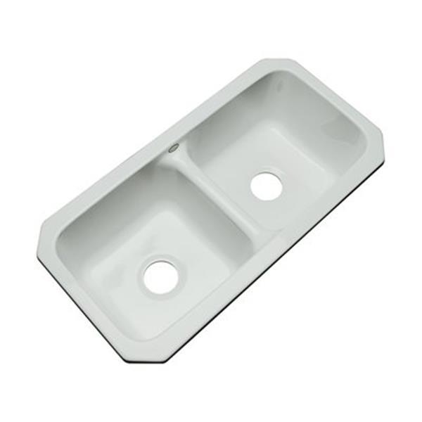 Dekor Englewood 33-in x 16-in Sterling Silver Undermount Double Bowl Kitchen Sink