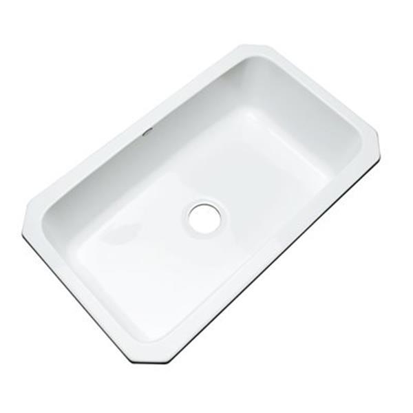 Dekor Brookwood 33-in x 22-in White Undermount Kitchen Sink