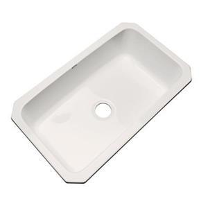 Dekor Brookwood 33-in x 22-in Almond Undermount Kitchen Sink